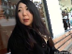Curvaceous Japanese girl gets her pussy toyed with a vibrator through her pantyhose. After that she flashes her big tits and gives a blowjob.