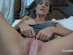 Skinny MILF sucking cock in POV and she seems to enjoy every second with this hard tool deep inside her mouth.
