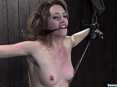 Bondage scene with kinky fucking bitch