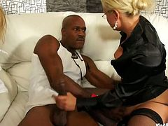 Breathtaking interracial orgy scene with sizzling hot party sluts