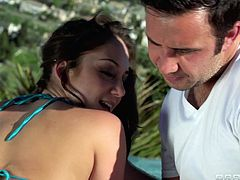 Remy was sunning herself outside and was feeling quite lonely when Keiran showed up to hang out. It didn't took long for things to get raunchy as he started massaging her and lick her toes. What they were both really looking forward to was some dirty, hot anal action!