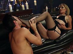 guy at his mistresses feet