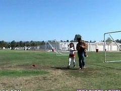 Sporty Babe Jayla Starr Getting Fucked after Soccer by Big Black Cock