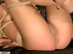 Bianca Arden is a young blonde slut who seems to enjoy torture. Her master cums in her dirty cunt and she pushes the cum out.