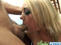 Gorgeous blonde's fucked silly by a horny guy