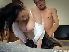 Busty Azumi Mizushim gets fucked rough from behind