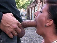 A dirty cock-sucking fucking whore gets tied up and fucked and forced to do embarrassing shit in this kinky bondage scene!