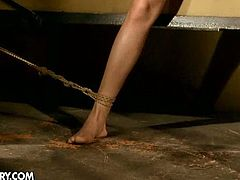 Blanche is an innocent blonde with hot body, but she is going to be punished today. She is all tied up and experienced humiliation and hardcore pounding!