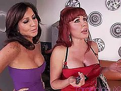 These two hot cougars Tara Holiday and Sexy Vanessa Fucking The Mechanic in turns.