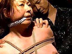 Hot japanese babe receives nasty pleasures during amazing hardcore BDSM porn