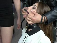 Lewd hottie Chanel Preston is getting naughty with a group of men. She lets them play with her tits and holes and then enjoys their hard pricks in her mouth and cunt.