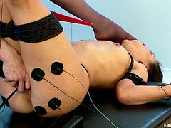 A couple of kinky lesbian chicks like to toy with electricity in their little sexual games, if you happen to dig this kinda thing, check it out!
