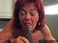 21 Sextury xxx clip provides you unfaithful red haired ugly and wrinkled housewife. This bitch with big pale boobs wears sexy lingerie and provides her strong neighbor with a solid blowjob right in the kitchen, while her husband is busy at work.