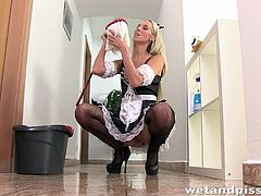 naughty maid makes a mess