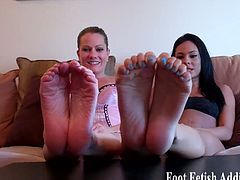 Alluring dommes tease you with their sexy feet