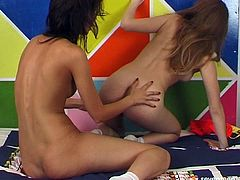 Two ardent tasty looking Russian amateur lesbians take off their clothes to caress steamy bodies with hands before they start rubbing each other's pussies in steamy sex video by Seventeen Video.