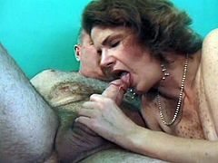 Hairy pussy granny fucked from behind as she welcomes grandpa's hard cock deep inside her old cunt for one extreme encounter.