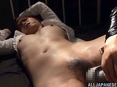 Fuuka Nanasaki is about to be punished for your pleasure. Her lesbian mistress pours hot wax on her slaves tits. She uses a hitachi vibrator on her hot, wet cunt. Her pussy hair is covered in sweat and lady juices.