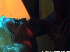 Watch the vintage blonde Fire getting her sweet pussy banged into kingdom come in this amazing retro hardcore video.