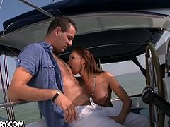 Christina Bella starts by fingering her ass hole. Evan Rochelle takes advantage at once, filling that hole with something bigger.
