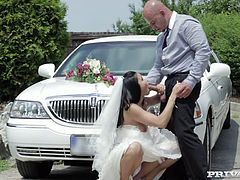 Well Victoria Blaze is getting married and she wants to get a little naughty for the last time. So she cheats on her future husband with a limo driver!