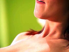 Adorable red haired beauty Kiera Winters moans while her tits are licked. Her lover spreads her soft legs and feasts on her dripping wet twat while she fondles her breasts.