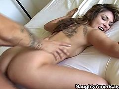 Roxy Jezel shaved pussy fucking with moans