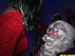 Hussy chicks are everywhere. They suck dick of horny santa and shake their cute adorable asses. Enjoy hot Reality Kings sex tube video for free.