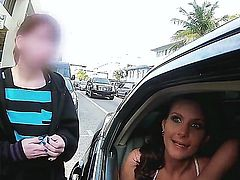 Two seductive MILFs Diamond Kitty and Phoenix Marie rent out a limo to enjoy having sex while driving around the city. These two nasty bitches enjoy being screwed rough.