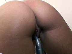 Amazing hot solo video featuring a hot brunette slut as she gets naked and sticks a dildo in her pink-ass motherfucking pussy.