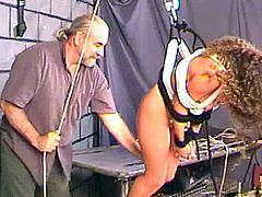 Teen gets nailed and punished by older guy in sensational BDSM porn session