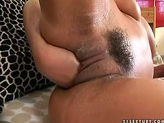 Well, this brunette isn't really sexy. But slim black haired bitch with braids will surely impress you in 21 Sextury xxx clip. Spoiled gal with natural tits wears stockings and gets totally absorbed with fisting her wet pussy and moans of delight loudly.