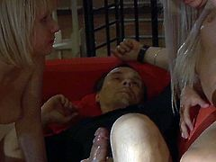 Booty pale blond heads get tied up with ropes in the garden. Dominant dude gonna make these naked bitches with pale tits suck his strong cock to jizz too voracious whores with gooey cum. You've got a chance to enjoy these versatile weird nymphos in Subspace Land sex clip to jerk off and jizz at once.