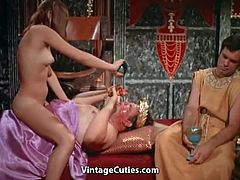 Caesar loves sex orgies and each day there is a lot of beautiful nude girls in his palace