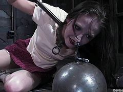 White and Black girls get humiliated and toyed in separate scenes. They get tied up and then toyed with different devices.