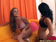 Dude, don't pass by this hot like fire Pornstar FFM sex clip. Amazing light haired chick boasts of flossy rounded ass and kinky brunette jams her sweet tits. Both chicks seek for a chance to give a solid blowjob to a lucky bastard. Check them out in Pornstar sex clip and you'll surely jizz all over the place.