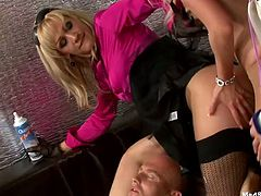These party sluts are dick drunk and are eager to suck off some man meat. Dude, these hotties know how to please a man and their cock sucking skills are above all praise! Check out this wild gangbang scene by Tainster now and get ready to cum at once!