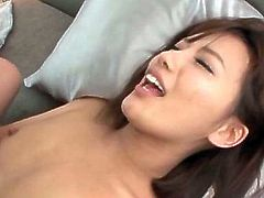 Horny naked Asian cutie having her tiny little butt hole filled with hard shaft