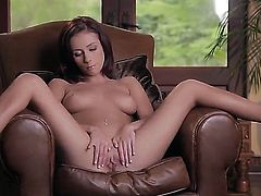Victoria Lynn lies back, making her already perky natural tits rise, and fingers her tight, juicy pussy. She also gets into a few different positions, too, highlighting her bod.