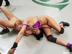 Horny chicks show their passion and willingnes to win. But in the end of the day this battle turns to wild lesbian sex.