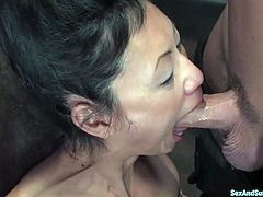 This busty and exotic Asian sex slave Tia Ling gets her huge boobs tied tight. Then babe gets a ball gag in her mouth, as soon she will enjoy hot wax!