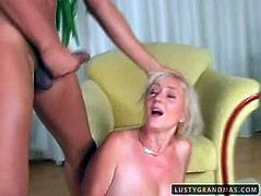 Spoiled blond haired bitch is too horny. Lewd old lady has huge ass, which is already red, cuz it's been smacked up too hard. Booty wrinkled and fat slut with droopy boobs desires to get her mature cunt fucked from behind tonight.