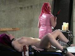 Check a naughty femdomme nurse using a vibrator so her patient's cunt reaches a breathtaking orgasm.
