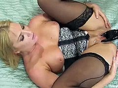 This is a real wild lesbian session with two smoking hot blondies with some hot shapes. They get in the shower and starts sharing some adult toys.