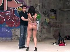 This sassy and super sexy babe Dunia Montenegro is an European sex slut with some hot shapes. Babe is s o good at sucking and moreover it all happens in public!