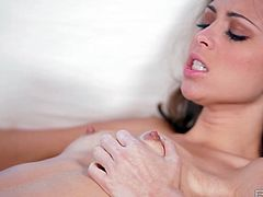 Riley Reid's aching pussy gets nailed by Kris Slater. She arouses his interest with sexy stockings and suspenders.
