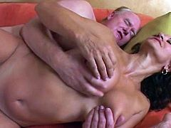 Horny Persia Monir turns wild when feeling such cock drilling her shaved mature pussy