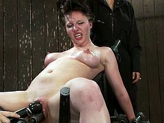 Charlotte Vale is getting toyed for an orgasm as she's bounded and tit tortured in this bondage porn video.