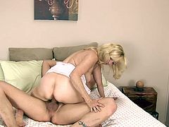 Check out this hardcore video where the smoking hot mature blonde Annabelle Brady is fucked silly by a big cock as you hear her moan.