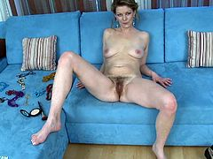 A horny fucking bitch gets naked for the camera and starts shoving a hard toy up her motherfucking pink-ass snatch, check it out right here!